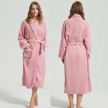 Women Bathrobe Towel Nightgown Long Couples Thicken Winter Plus-Size Lovers 100%Cotton