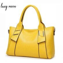 Yellow Handbag Women Bag PU Leather Blue Hand Bag Black Famous Brand women messenger bag Luxury Designer bolsa feminina  W805
