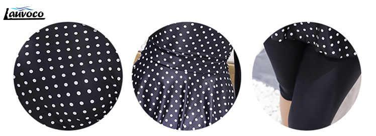 Dua Potong Baju Renang Dot Dicetak Pakaian Panjang Lengan Bodysuit Flouncing Monokini 6XL Plus Ukuran Baju Renang Lemak Celana Pendek Tankini