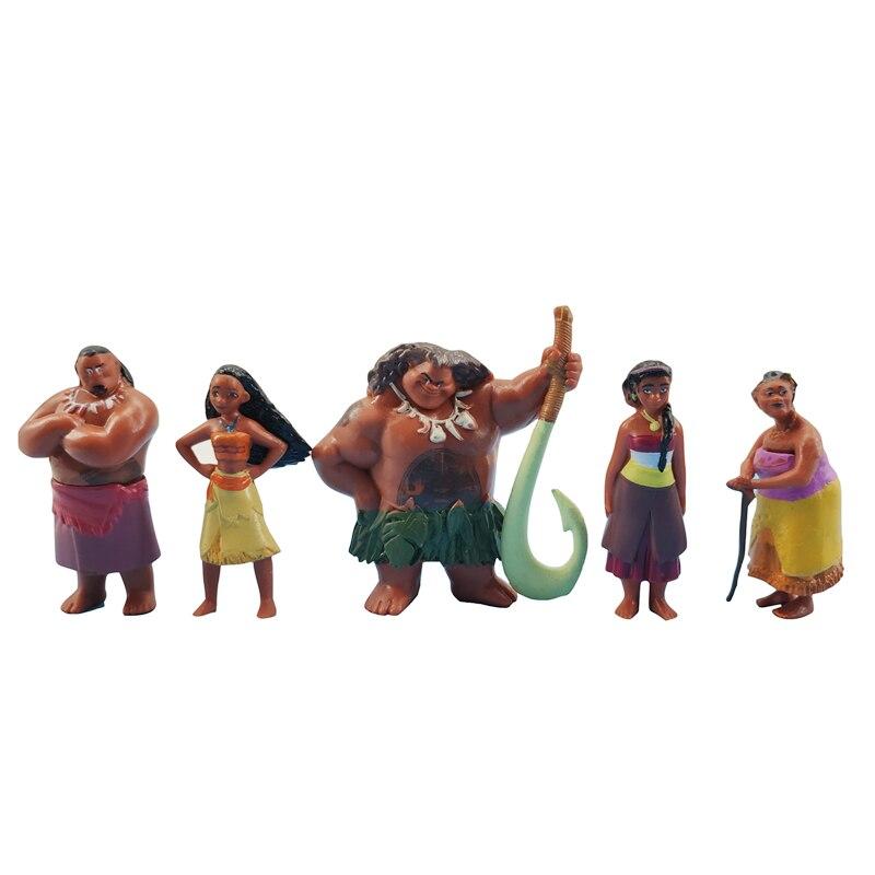 Image 2 - Disney Moana 12 Pcs/Set Cartoon Model Moana Waialiki Maui Heihei Chief Tui Tala Sina Anime Action Figure Toy Child Birthday GiftAction & Toy Figures   -