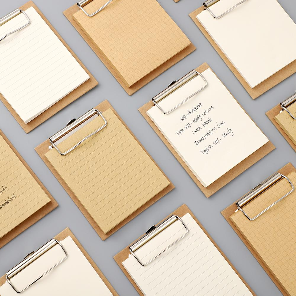 JIANWU Board Clip Note Clipboard Memo Pads Basic Color Loose-leaf Notebook Printed Simple Note Pad Clip School Office Supplies