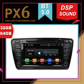 PX6 Excellent Performance Android 9.0 Car Multimedia GPS For SKODA OCTAVIA 2014-2016 DSP Sound Navigation Tape Recorder Radio