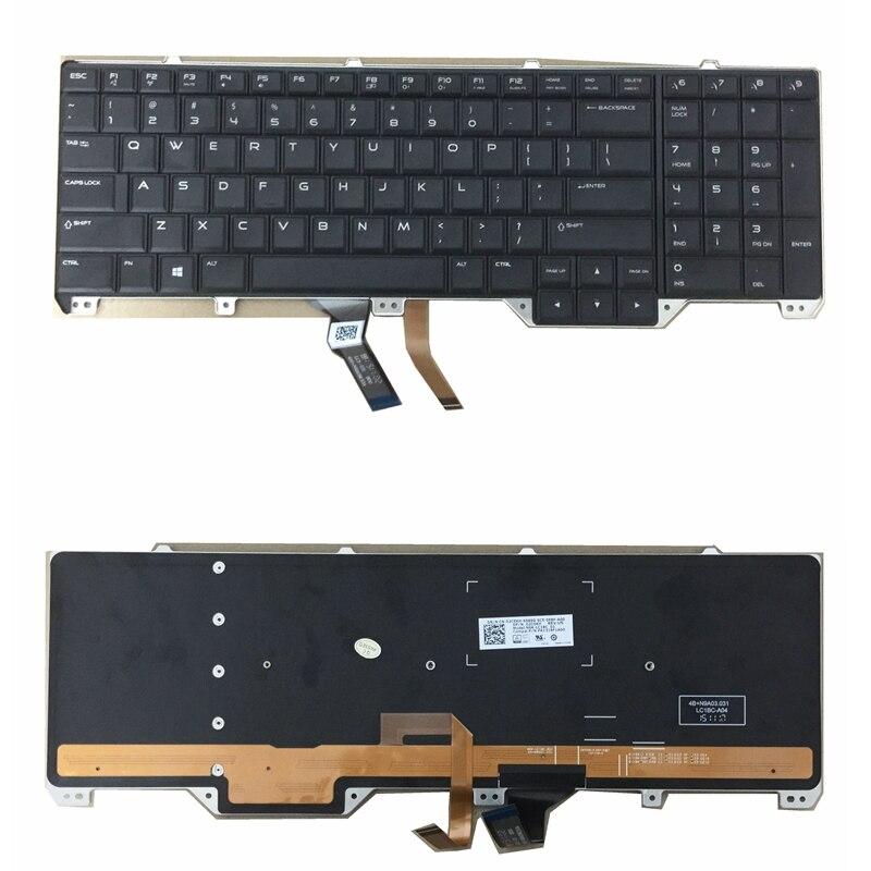 Nuevo para Dell Alienware 17 R2 17 R3 Teclado retroiluminado para ordenador portátil 2C6KH Teclado estándar de EE. UU. Tarjeta SIM inalámbrica, RFID para el hogar, teclado LCD de seguridad antirrobo, sistema de alarma WIFI/GSM, kit de Sensor de voz en inglés, ruso, español