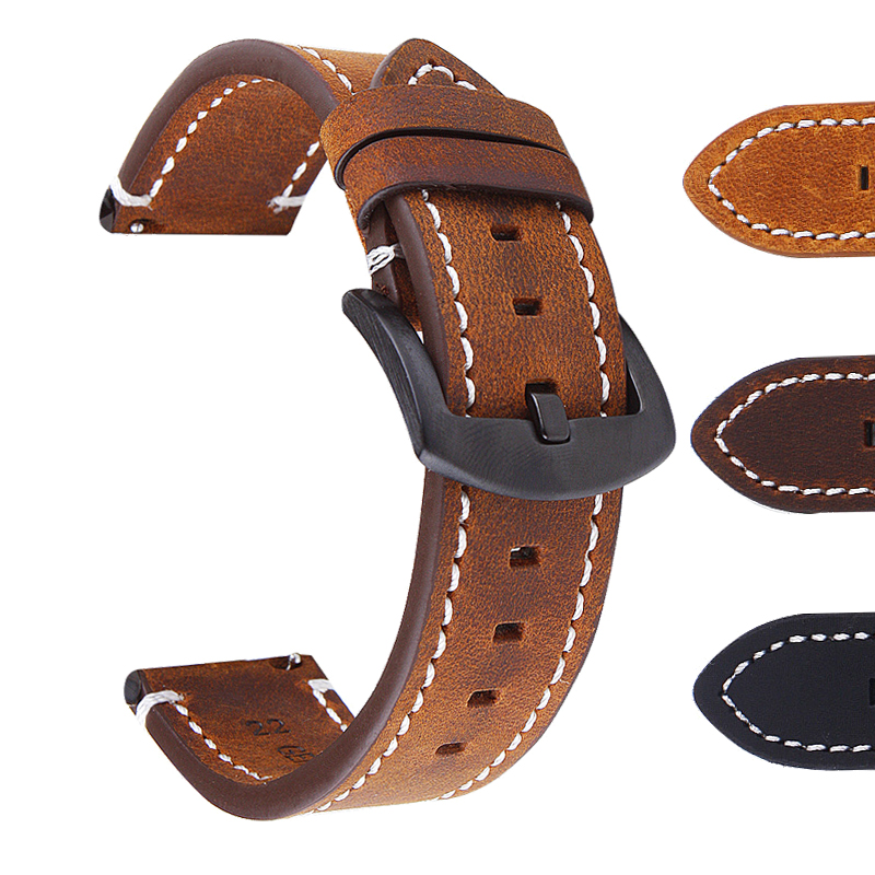 <font><b>Watchband</b></font> Soft Calf Genuine Leather Watch Strap <font><b>20mm</b></font> 22mm 24mm Watch Band for Tissot <font><b>Seiko</b></font> Accessories Wristband image