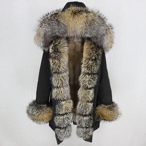 Image 1 - OFTBUY Waterproof Long Parka Winter Jacket Women Real Fur Coat Natural Fox Fur Collar Hood Thick Warm Streetwear Detachable New