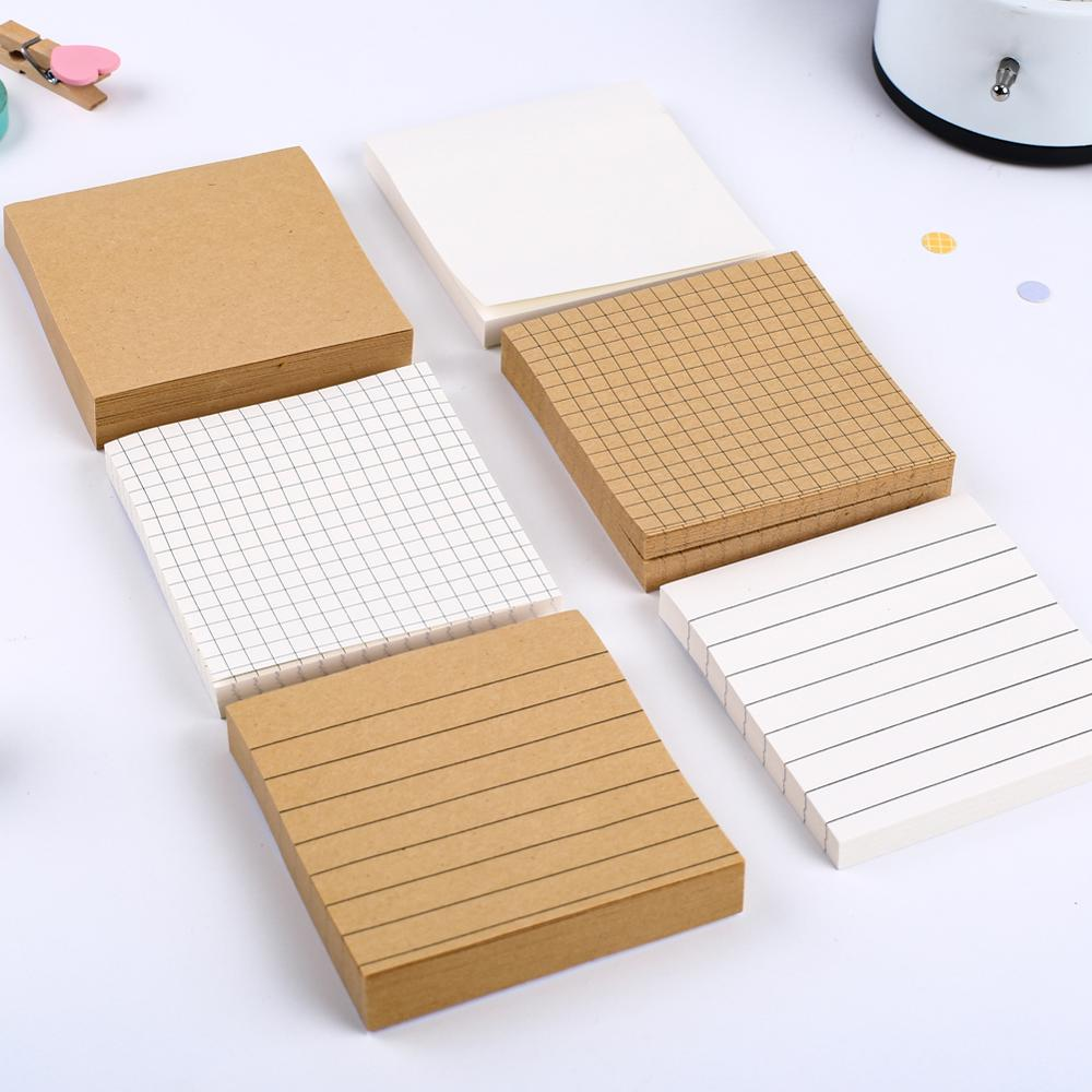 Block Grid Line Memo Pad Folding Study Flash Card Sticky Note School Notepad Stationery Office Flashcard Kit Accessory Index Tab