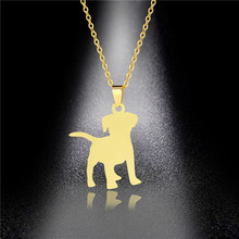 Pet Puppy Necklace European and American Titanium Steel Pendant Tide Girl Hip Hop Stainless Steel Necklace Dog Pendant european and american hip hop encrusted masked statue of liberty pendant necklace stainless steel color preserving plati