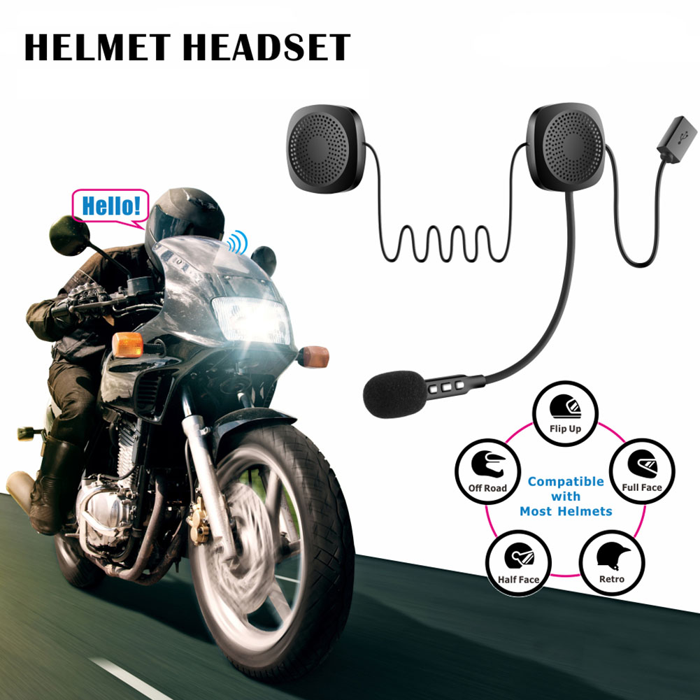 Automatic Answering Hands Free Gift Stereo Easy Operate Helmet Headset Earphone For Motorcycle Transmission Bluetooth Headphone