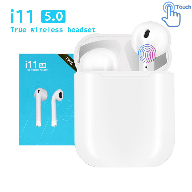 <font><b>i11s</b></font> <font><b>Tws</b></font> headset wireless <font><b>Bluetooth</b></font> <font><b>5.0</b></font> headset mini earbuds, with microphone charging box sports headset, for smart phones image