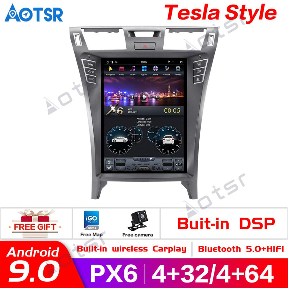 4K 4+64 Tesla style Android 9.0 Car DVD Stereo Multimedia For <font><b>Lexus</b></font> LS460 BT Radio GPS Navi Video Audio vertical screen headunit image
