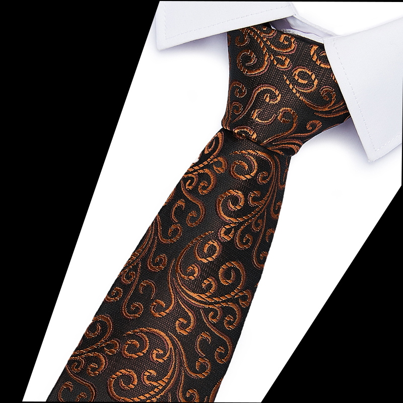 2020 New Male  Classic Neckties Classic Men's Print Wedding Ties Jacquard Woven 100% Silk 6cm Men   Neck Ties