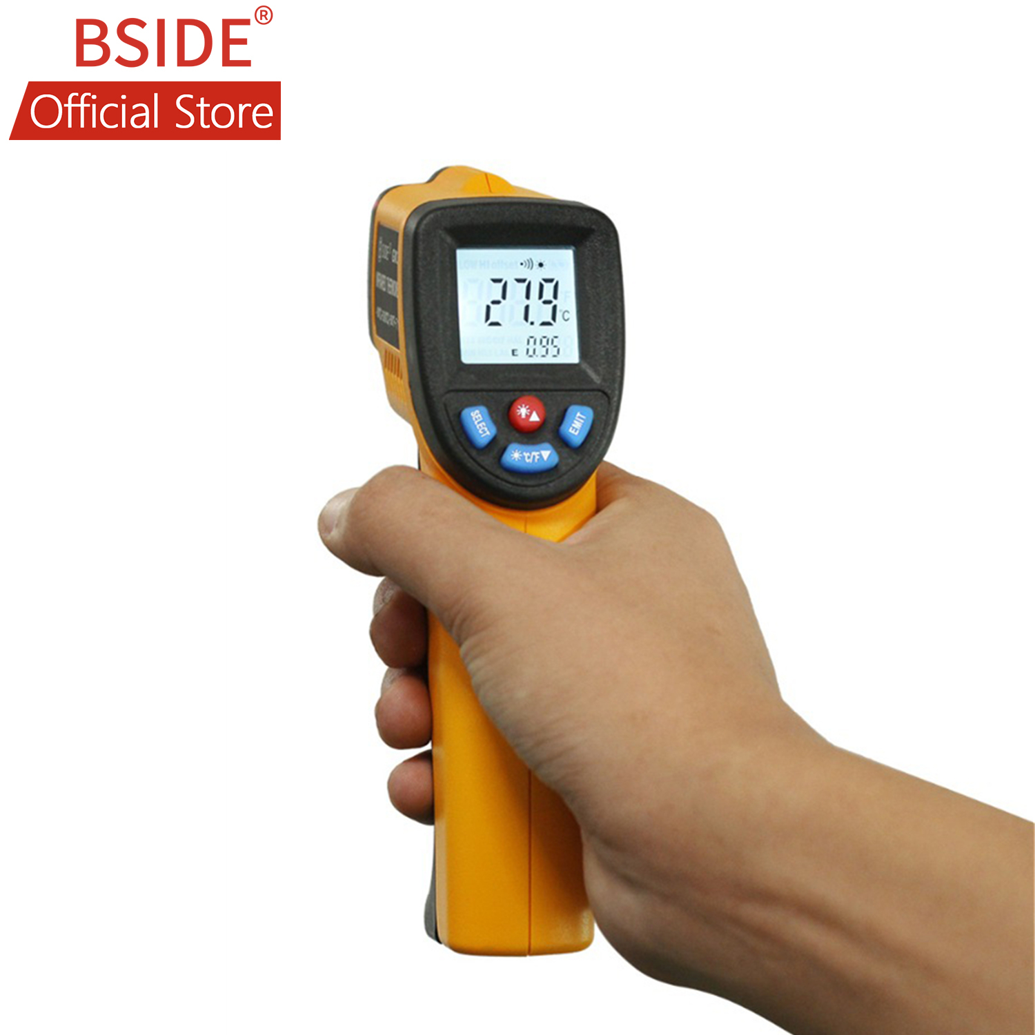 BSIDE GM320 Non Contact IR Infrared Thermometer Digital Temperature Meter with C/F Selection for Industry Home-in Temperature Instruments from Tools    1