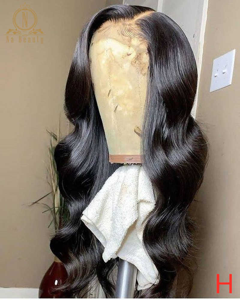 180 Dichtheid Lace Front Pruiken Body Wave Menselijk Haar Pruik Voor Zwarte Vrouwen 13X6 Lace Front Pruik Preplucked maleisië Remy Haar Nabeauty