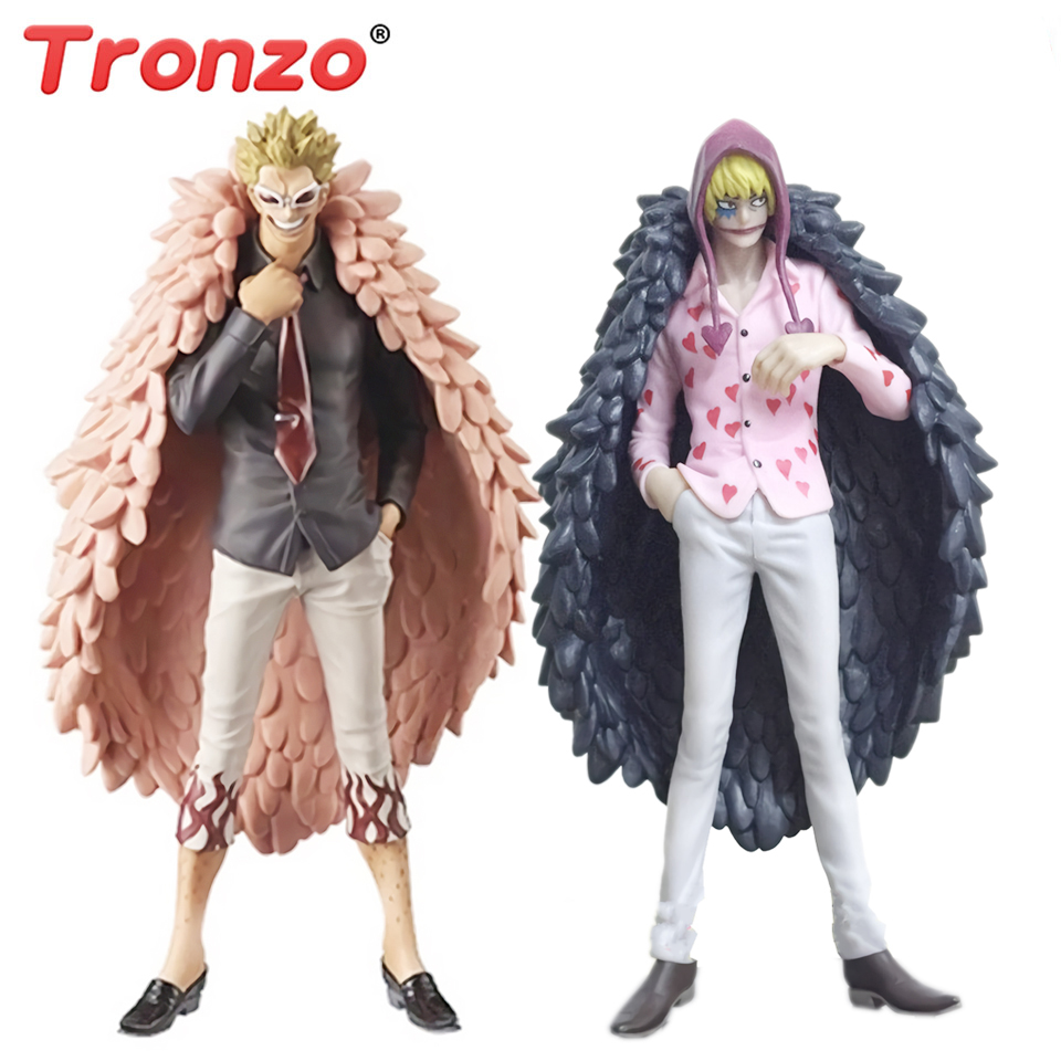 Tronzo Anime One Piece Donquixote Doflamingo DEBANDADA Corazon Jovem Ver PVC Action Figure Modelo Brinquedos Presentes Collectible Figurine