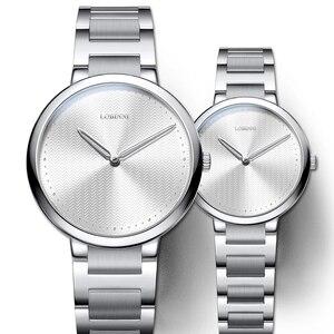 Швейцарские часы для влюбленных, винтажные японские кварцевые часы, мужские и женские подарочные часы для влюбленных, наручные часы из нерж...