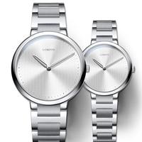 Switzerland Lovers Watch Vintage Japan Quartz Movement Man Woman Gift Couple Wristwatch Stainless Watchband Sapphire Clock