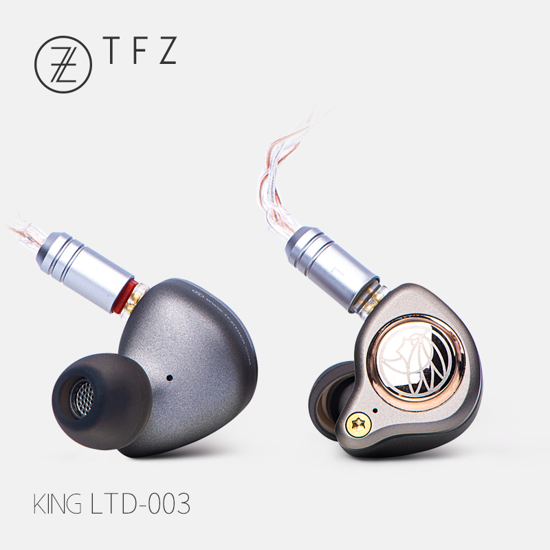 TFZ KING LTD Super basse dans l'oreille casque DJ filaire Hifi moniteur suppression de bruit casque sans Microphone