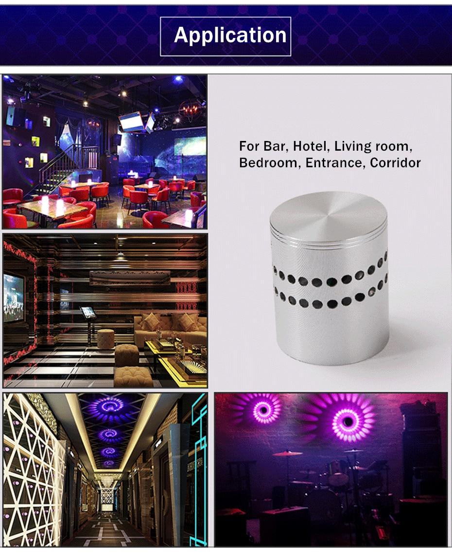 H64c0f4178004405cabc42f691866c51aV Modern LED Ceiling Light 3W RGB Porch Lamp Surface Mount Flush Lighting Fixture Balcony Corridors Living Room Decor