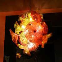 Zeitgenössische Lotus Blume Hängen Innen Dekor Zweig Kronleuchter Leuchte