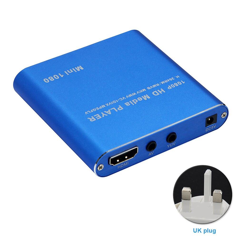 1080P médias MMC MKV AV Mini AVI décodage en douceur carte mémoire hôte Full HD lecture lecteur HDD HDMI léger Audio maison USB