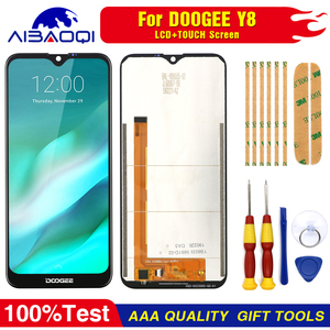 Image 1 - New original Touch Screen LCD Display LCD Screen For Doogee Y8 Replacement Parts + Disassemble Tool+3M Adhesive