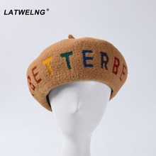 Wholesale 7 Colors Women Wool Quality Beret New Embroidered BETTER Bere