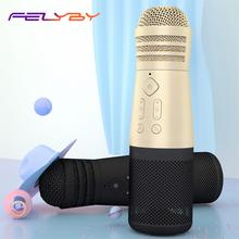 цены FELYBY SF-999 Portable Karaoke Microphone Speaker for Conference /Home/ Recording/ Youtube Bluetooth Wireless Microphone