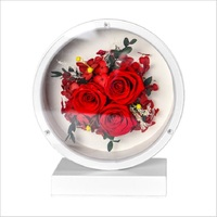 preserved fresh flower Rosy Flowers Creative holiday gift bedside lamp presentation box artificial flower