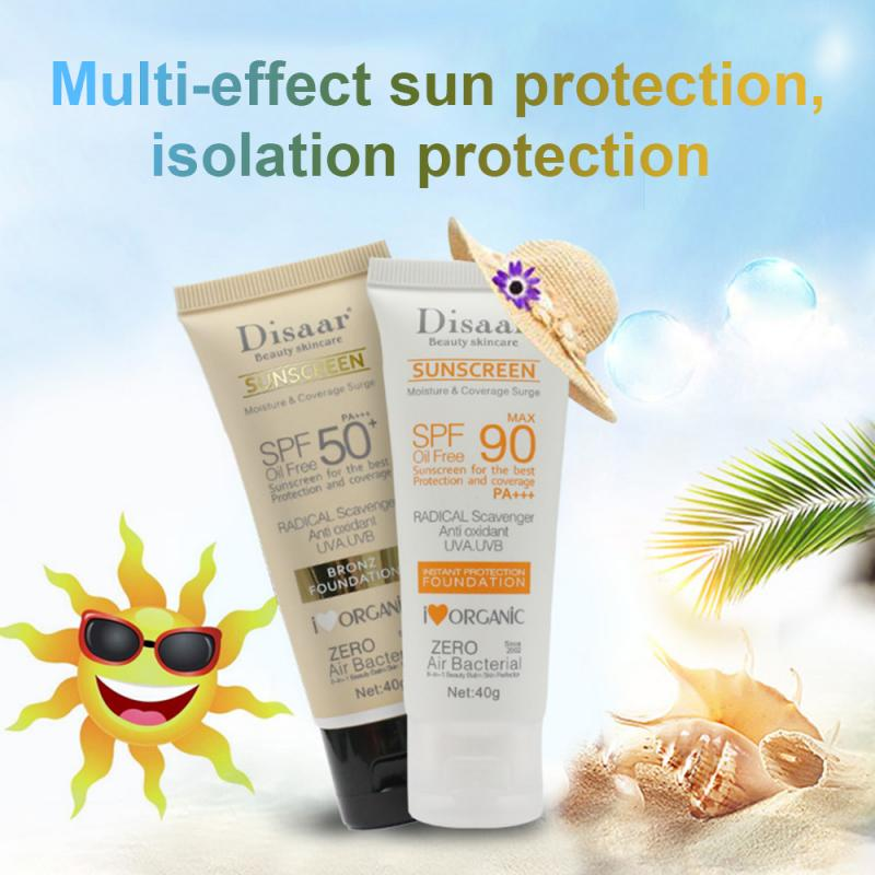 40g Disaar Beauty Facial Sunscreen Skin Care Spf Max 90 Oil Free Moisture Coverage Suncreen For Surge The Best Anti Oxidant