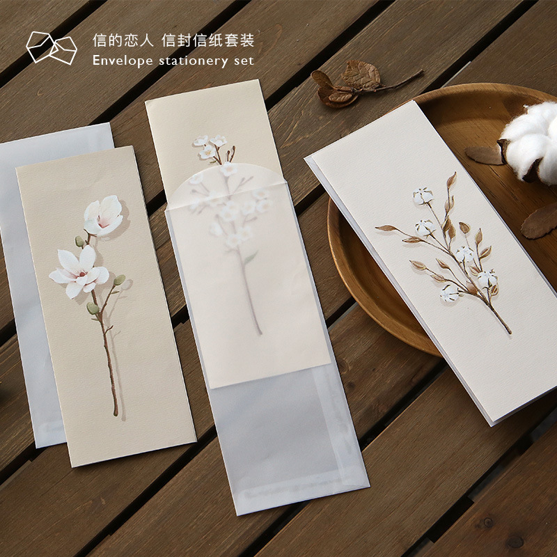 3pcs/set Creative Paper Letter With Envelope For Birthday Christmas Wedding Birthday Invitation Scrapbooking Stationery Gift