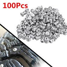 Vis à clous pour pneus de voiture, 100 pièces, chaînes de neige, moto, ATV, 8x10mm, hiver