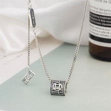 Retro Wealth Billowing Money Female Personality 925 Sterling Silver Jewelry Money Abacus Tassel Pendant Necklaces N129