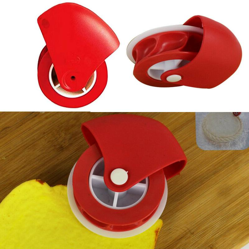 Beautly Pastry Wheel Cutter  Pizza Pastry Lattice Cutter Pastry Cookie Pie Decoration Cutter Plastic Wheel Roller Kitchen Tool|Pizza Tools| |  - title=
