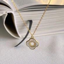 Colar pingente de trevo jóias finas 925 prata esterlina colar para mulher simples gargantilha corrente joyas de plata 925 mujer collier