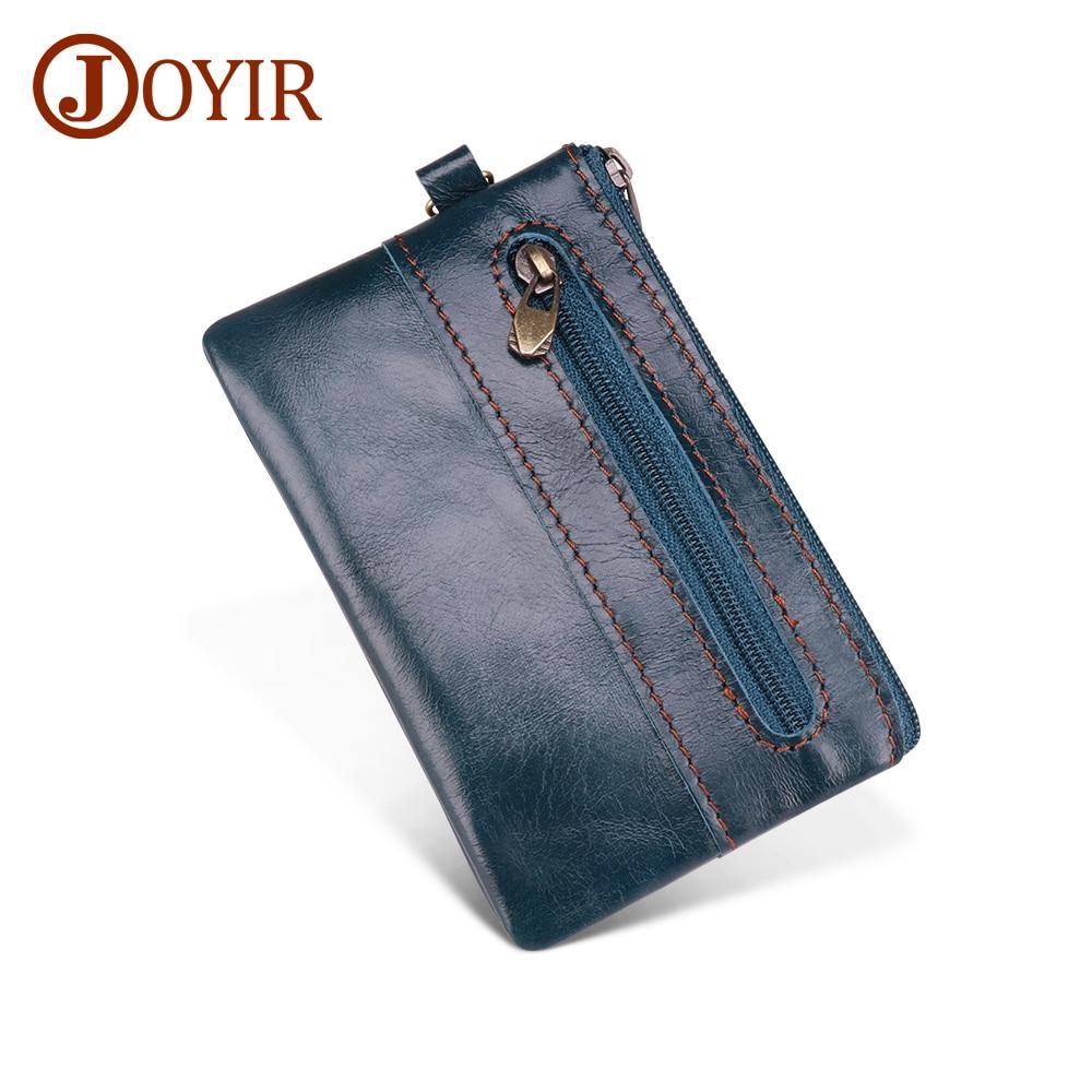 JOYIR Genuine Leather Coin Purse Men Women Small Wallet Change Purses Mini Zipper Coin Wallet Card Holder Pouch Small Money Bag