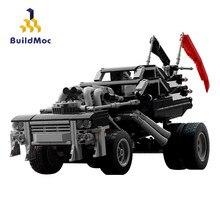 Buildmoc çılgın Max Immortan Joe's Gigahorse kral yol Offroad kamyoneti teknik araba yapı taşları Buggy inşaat oyuncakları
