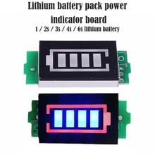 Blue Display Electric Vehicle Battery Power Tester 3.7V/2S/3S/4S/6S Li- Li- Lithium Battery Capacity Indicator Module