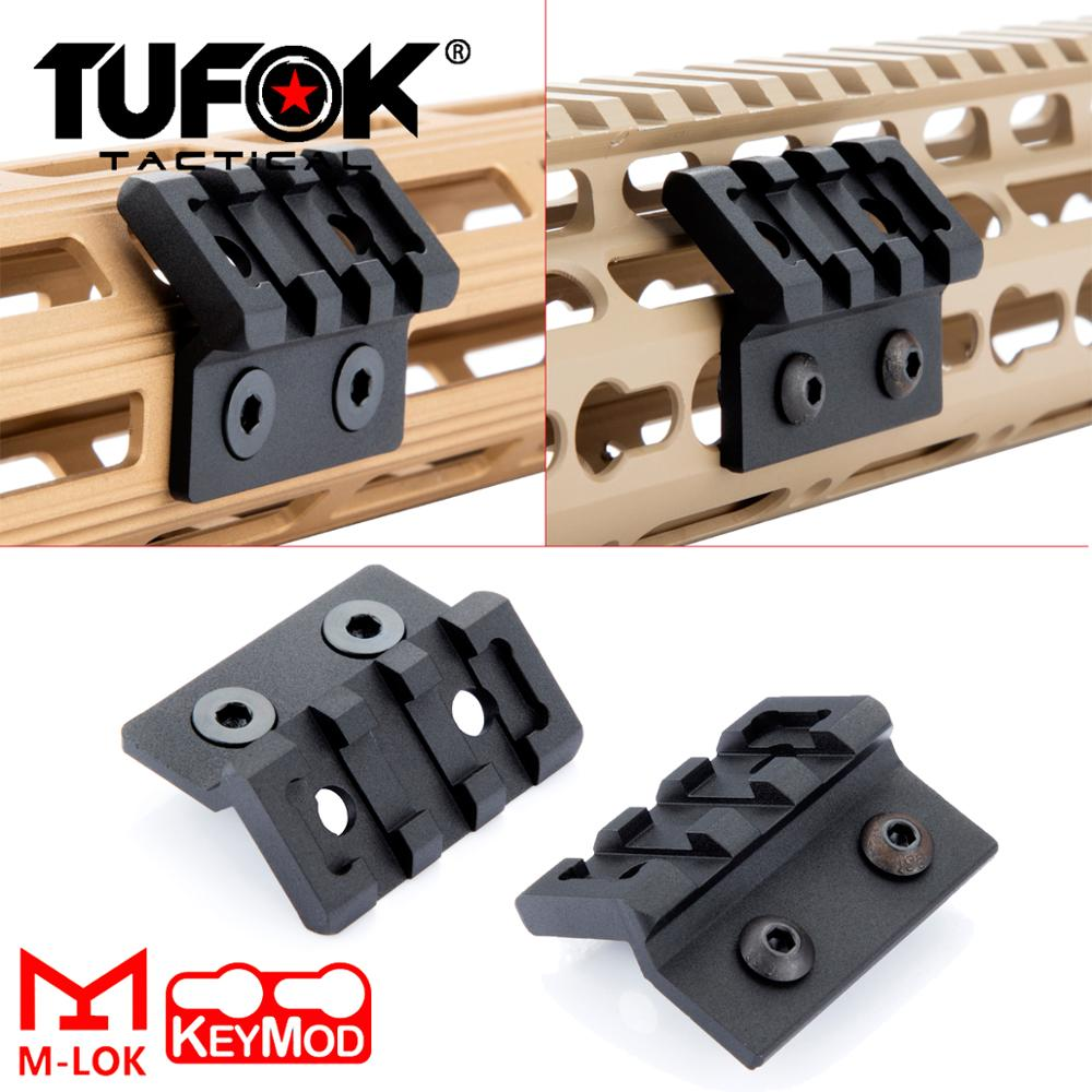 Tufok M-Lok Keymod Offset M300 M600 Scout Light Mount MLok Optics Scope Mount Keymod Tactical Flashlight Accessories(China)