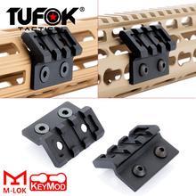 цена на Tufok M-Lok Keymod Offset M300 M600 Scout Light Mount MLok Optics Scope Mount Keymod Tactical Flashlight Accessories