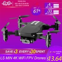 LS MIN-Drones 4K 2021 P HD, cámara WiFi Fpv, presión de aire, mantenimiento de altitud, Selfie, Dron RC plegable Profesional, 1080