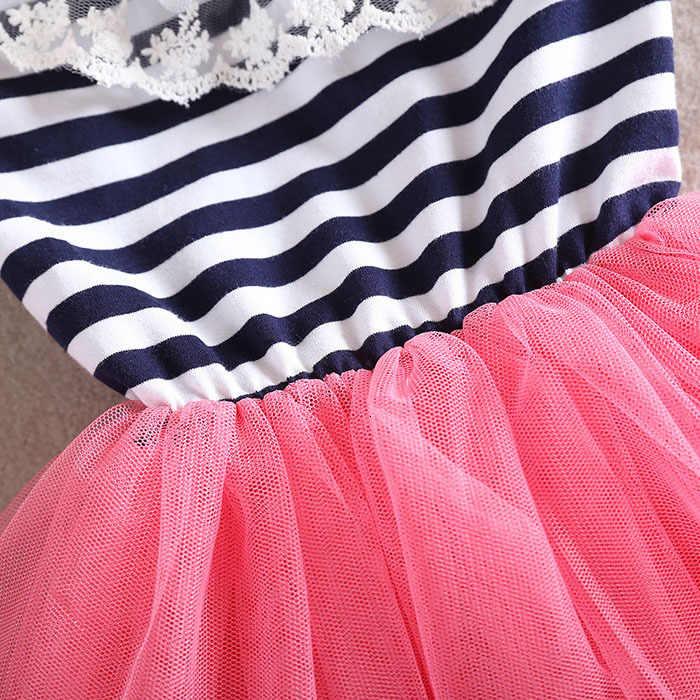 משלוח חינם 2018 בנות חמודה תחרה שמלת ילדה נסיכת שמלת ילד קיץ אופנה בגדי ילדי בגדים חדשים