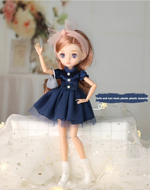 Adollya 1/6 BJD Movable Joints Mini Dolls For Girls BJD Doll Full Set Princess Female Body BJD Accessories Kawaii Toys For Girls 2