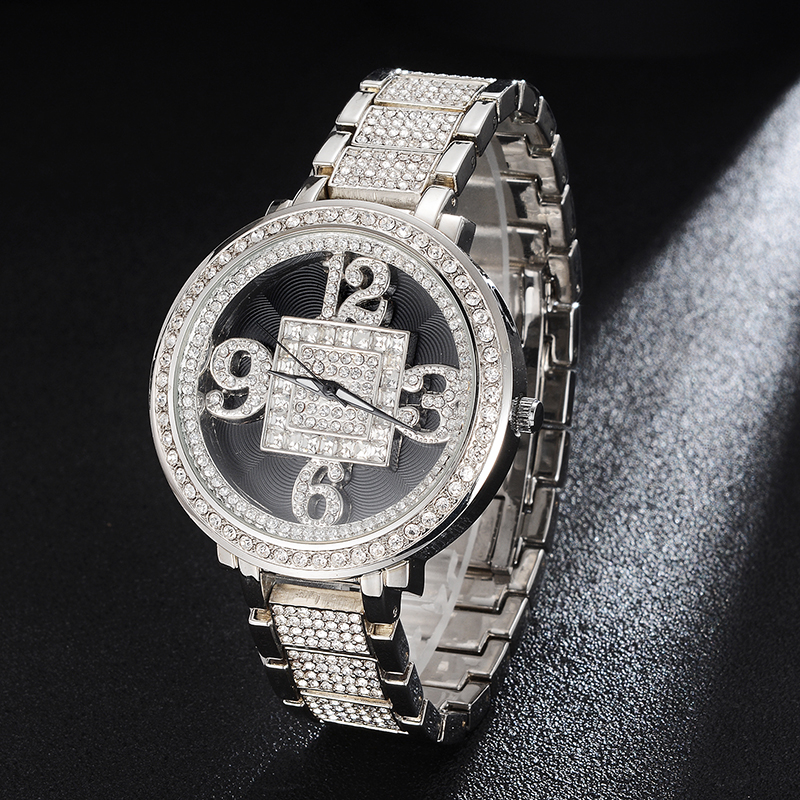 Hip Hop Luxury Mens Iced Out Waterproof Watches Date Quartz Wrist Watches With Micropave CZ Alloy Watch For Women Men Jewelry
