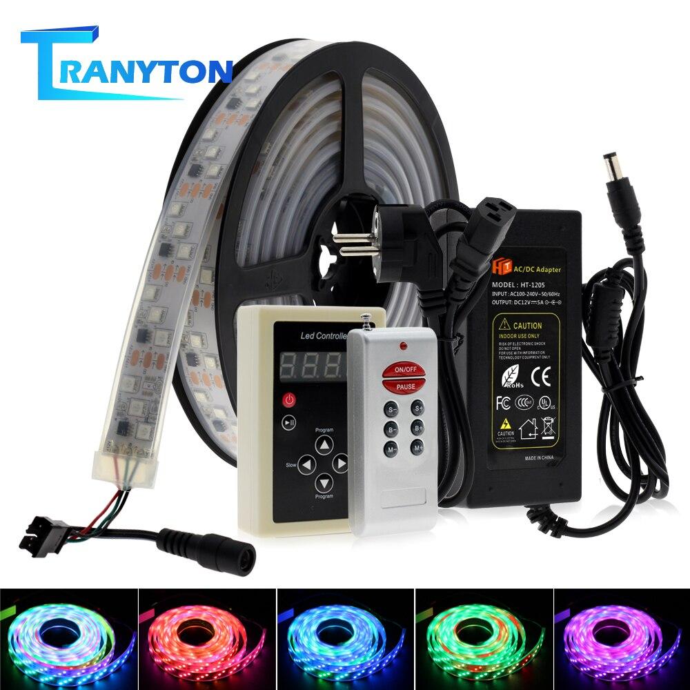 1903 IC Dream couleur RGB LED bande 5050 numérique couleur changeante eau lumière 5M + 133 programme RF télécommande + adaptateur.