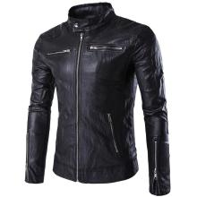 2018 Mens Autumn Winter Pu Leather Punk Jacket Coat Men Fashion Motorcycle Male Outerwear