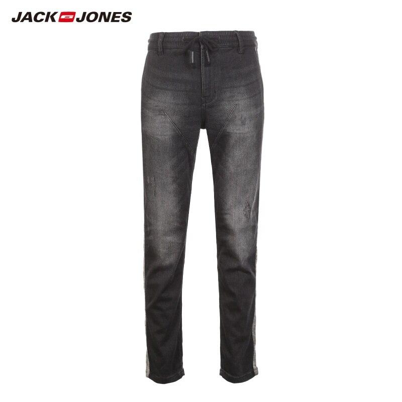 JackJones Autumn men's personalized ripped casual versatile jeans 218332561