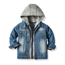Top and Top 2020 Autumn Winter Unisex Baby Boys Girls Outerwear  Long Sleeve Denim Hooded Zipper Jacket&coat Casual Daily Outfit