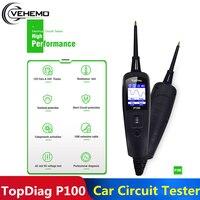 Topdiag Elektrische Systeem Diagnostiek Tester Power Scanner Voltage 12V 24V P100 Diagnostic Tool Automotive Jdiag Circuit Tester
