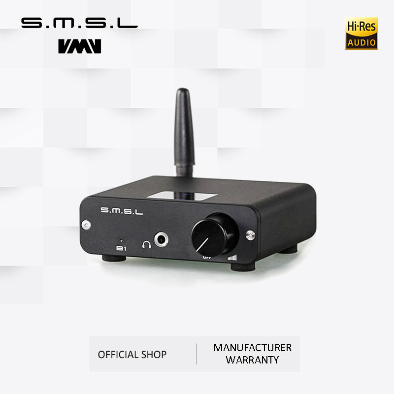 SMSL B1 HiFi Stereo Audio Bluetooth DAC Receiver NFC Optical Coaxial DAC Digital Audio Decoder 24 Hours Playing Time Black