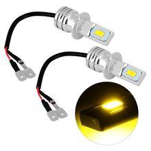 Fog-Lamp H3 Headlights 2smd-Bulbs Running-Light Car-3000k Yellow 80W for 2PCS DC12-24V